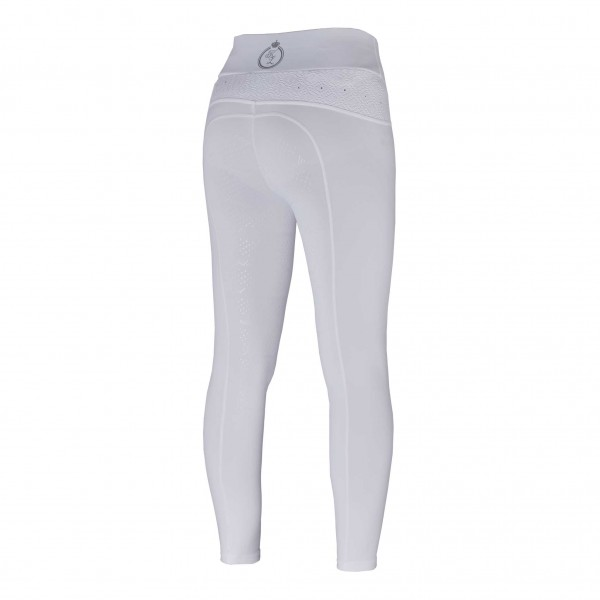 Kingsland Reitleggings Damen Katinka, Vollbesatz, Full-Grip, weiß, blau