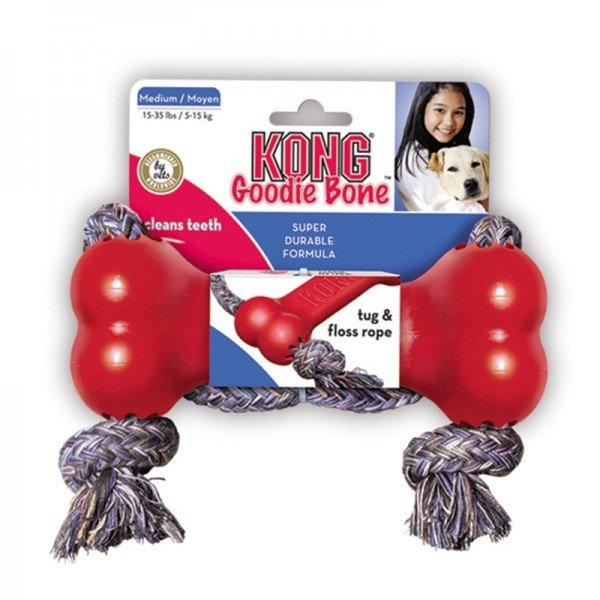KONG Spielzeugknochen Goodie Bone mit Seil