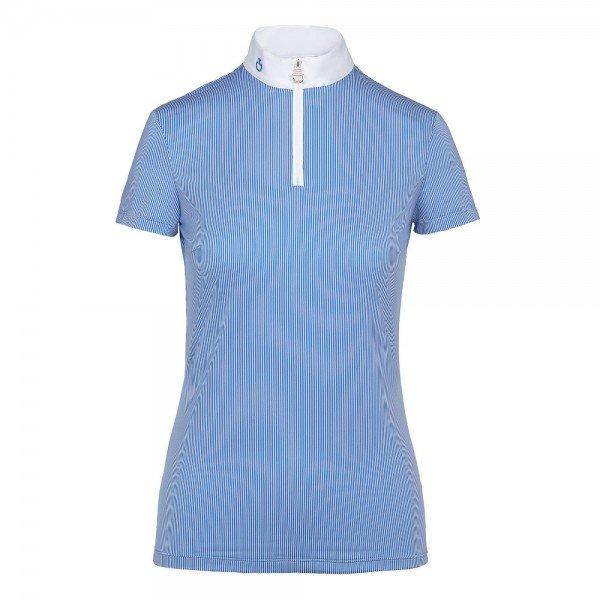 Cavalleria Toscana Damen Turniershirt Front Zip S/S Polo FS20, kurzarm
