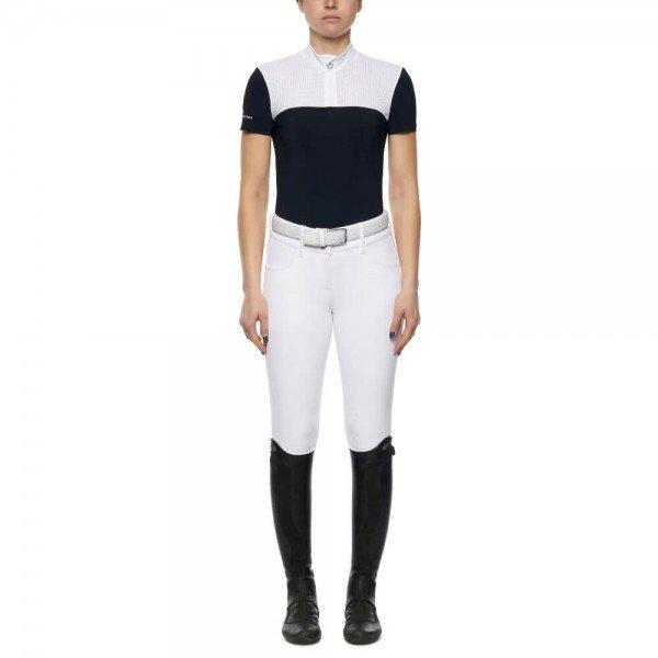 Cavalleria Toscana Turniershirt Damen Perforated Yoke and Collar S/S FS21