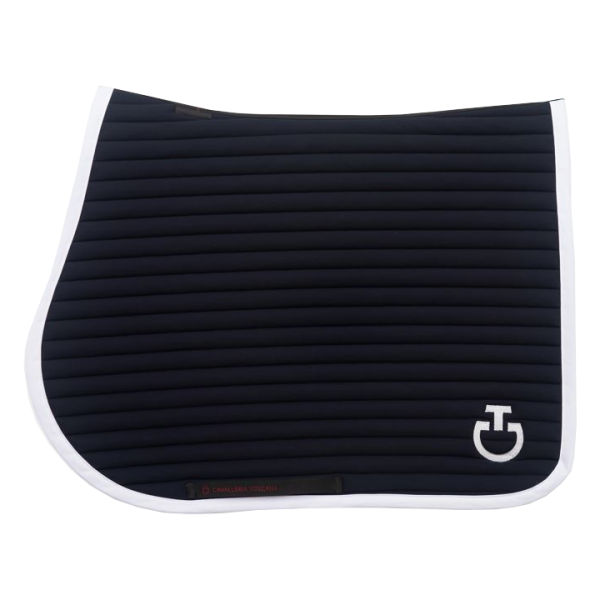 Cavalleria Toscana Schabracke Quilted Row Jersey, Springschabracke, schwarz, weiß, …