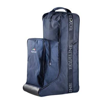 Equiline Stiefel- und Helmtasche, Stiefeltasche, Bootsbag, Helmetbag, schwarz, blau