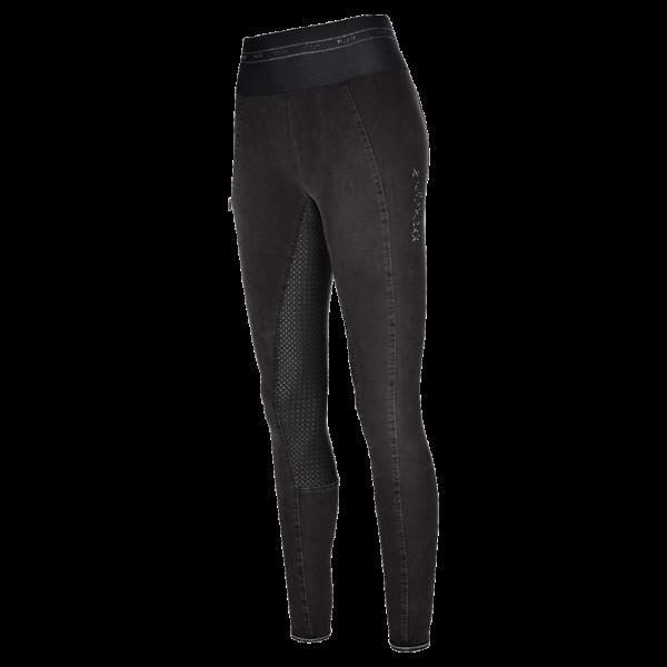 Pikeur Reitleggings Damen Ivana, Vollbesatz, Full-Grip, Jeans, Ganzjahresreithose