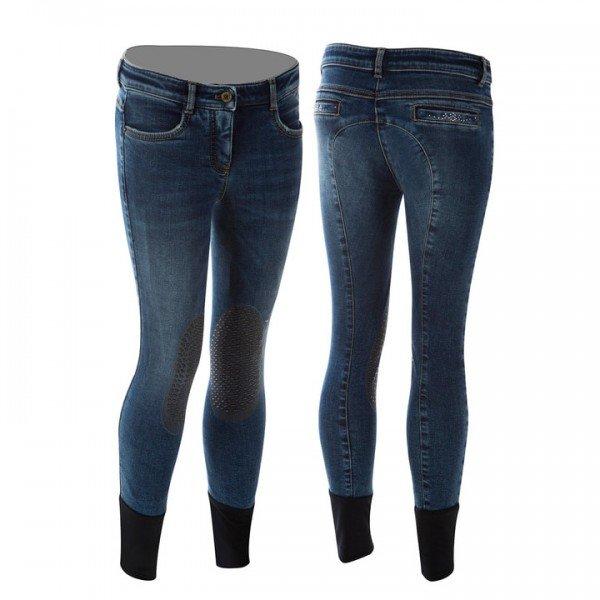 Animo Reithose Mädchen Nove, Kniebesatz, Knee-Grip, Jeans