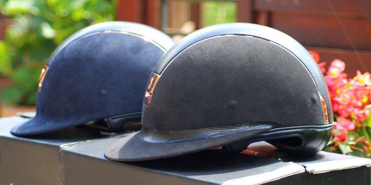 Roségold und Schlangenleder: unsere Samshield Helme