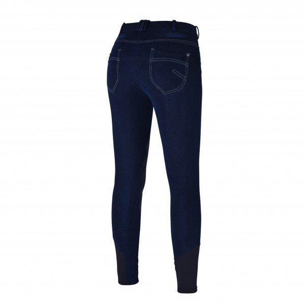 Kingsland Reithose Damen Kabriell, Kniebesatz, Knee-Grip, Jeans, blau