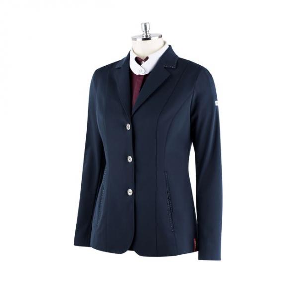 Animo Sakko Damen Lachel, Jacket, Turniersakko, Turnierjacket, glitzer, schwarz, blau