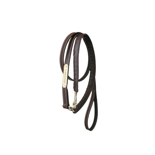 Kentucky Horsewear Führleine Leder Covered Chain