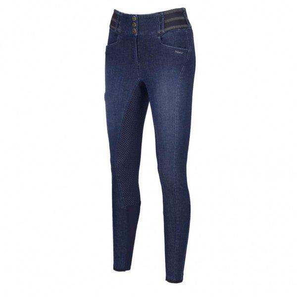 Pikeur Reithose Damen Candela Jeans HW21, Vollbesatz, Full-Grip