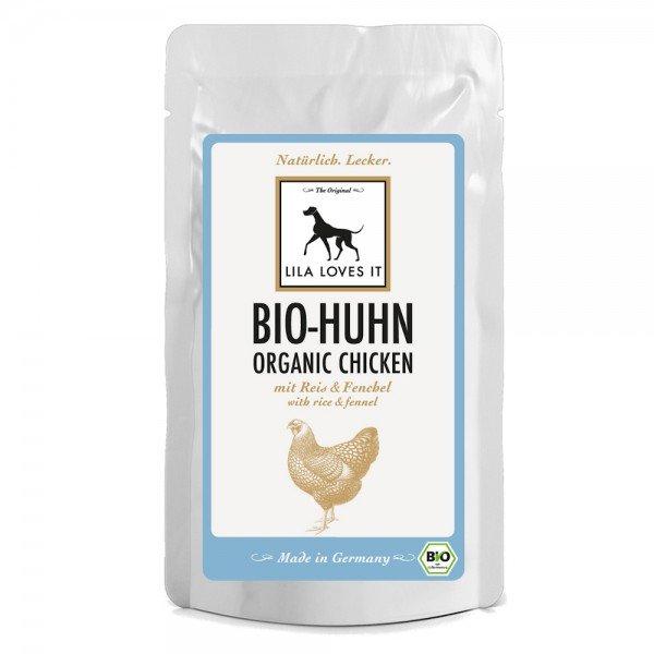 Lila Loves It Hundefutter Bio-Huhn mit Reis & Fenchel, Nassfutter