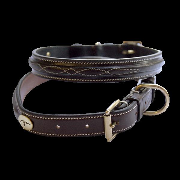 Dyon Hundehalsband Fancy Stitch, Lederhalsband