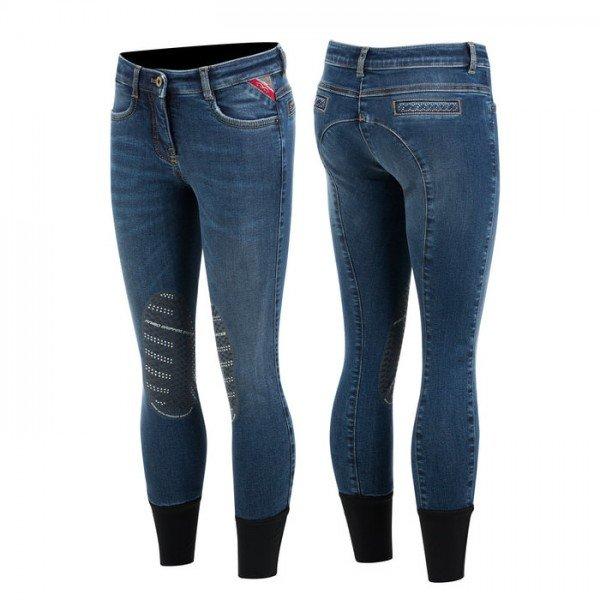 Animo Reithose Mädchen Nag Jeans, Kniebesatz, Knee-Grip
