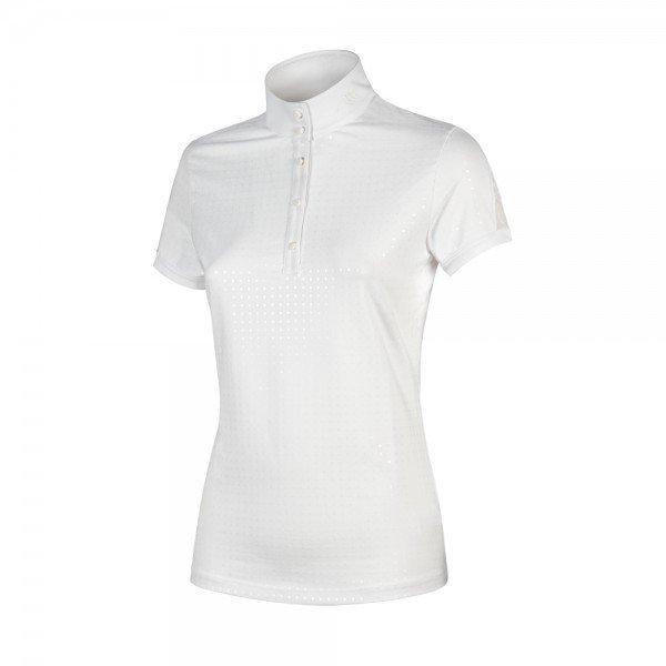 Equiline Damen Turniershirt Ebony, kurzarm, glitzer