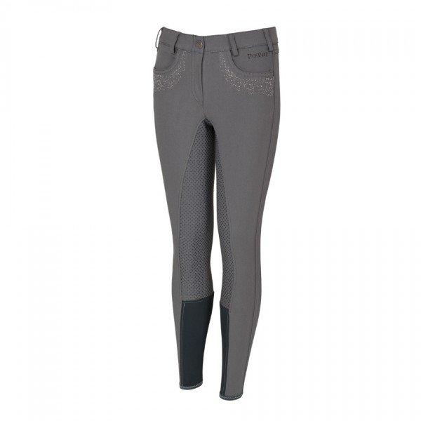 Pikeur Damen Vollbesatz Reithose FAYENNE Grip Jeans 80 Light Grey