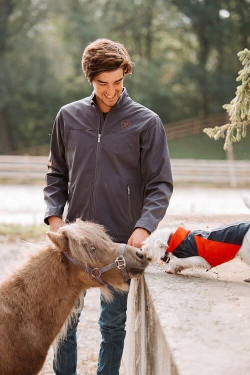 Beschnuppern-Pferd-und-Hund