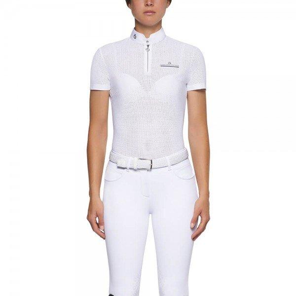 Cavalleria Toscana Turniershirt Damen CT Fully Perforated Jersey S/SZip FS21