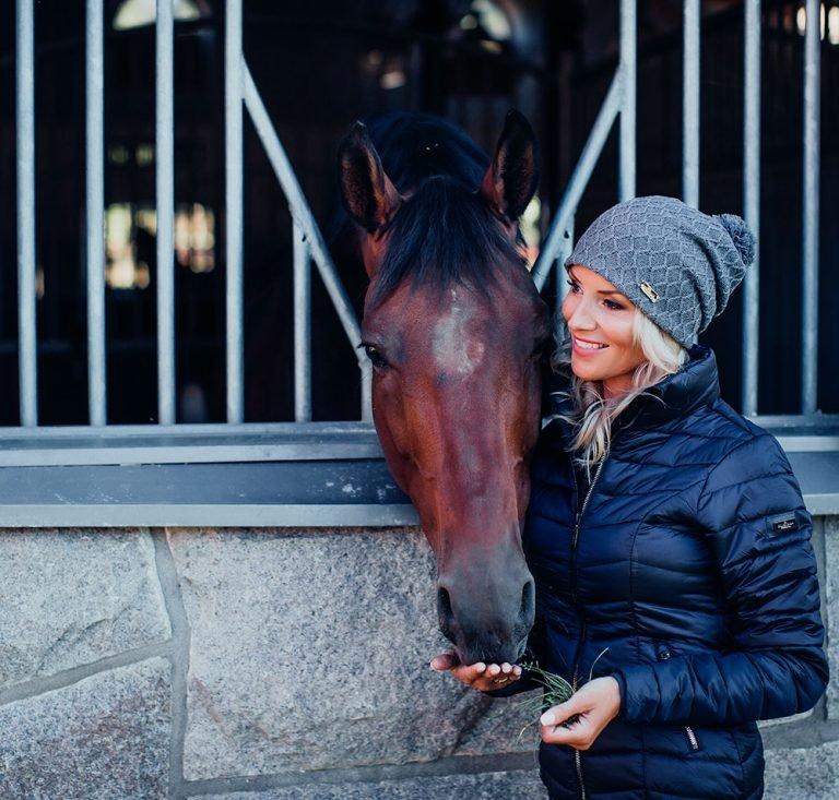 Equestrian Stockholm Jacke Damen Light Weight, Steppjacke, oliv, beige, blau, rot, grau