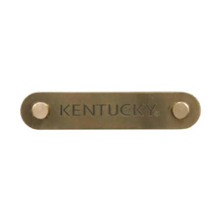 Kentucky Horsewear Namensschild Halfter, gold