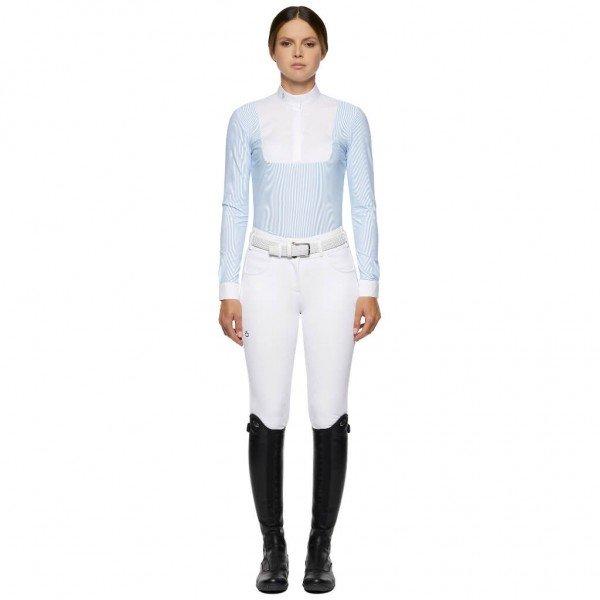 Cavalleria Toscana Turniershirt Damen Jersey L/S Competition Shirt w/Poplin Bb HW21, langarm