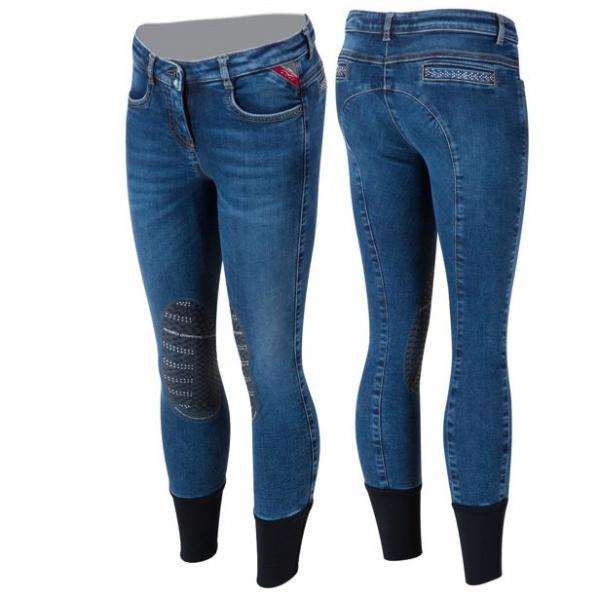 Animo Reithose Mädchen Nariel, Kniebesatz, Knee-Grip, jeans