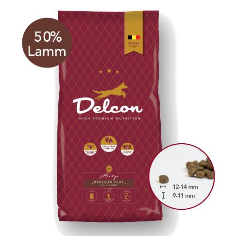 Delcon Hundefutter Performance Regular Plus Lamm, Trockenfutter, high performance