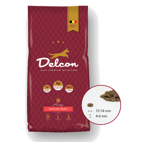 Delcon Hundefutter Heritage Regular Senior Mini, Trockenfutter, kleine Stücke