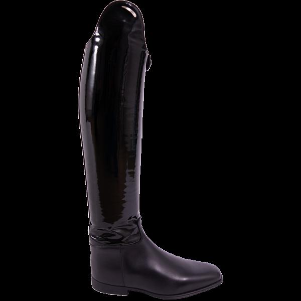 Parlanti Passion Reitstiefel Dressage Boot Lack mit Logo, Dressurstiefel, Damen