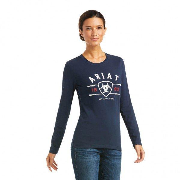 Ariat Shirt Damen International Logo HW21, Sweatshirt
