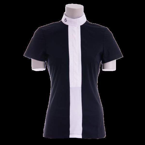 Cavalleria Toscana Turniershirt Damen Pleated Jersey S/S Shirt FS20