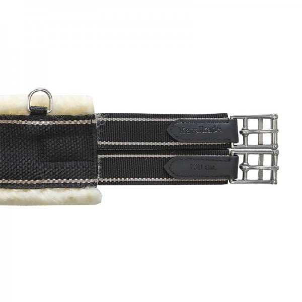 Kavalkade Sattelgurt Textil Straight, Langgurt, Stoff mit Lammfell