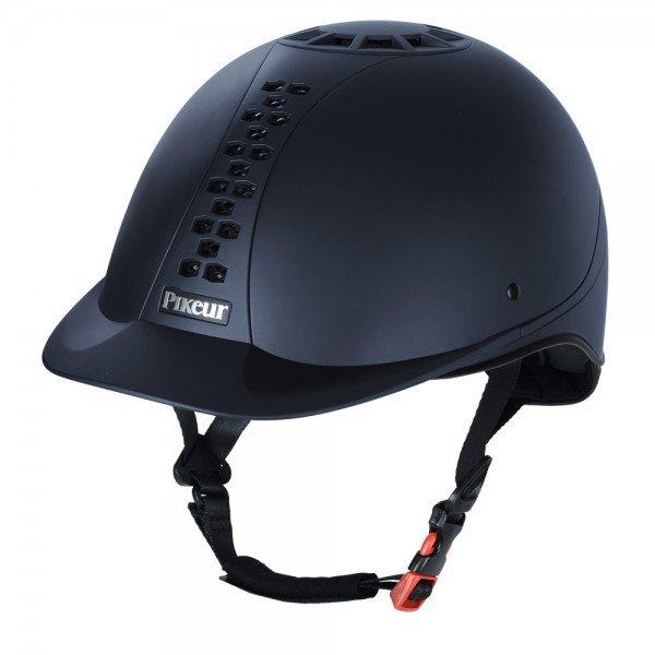 Pikeur Reithelm Pro Safe Classic, schwarz, blau