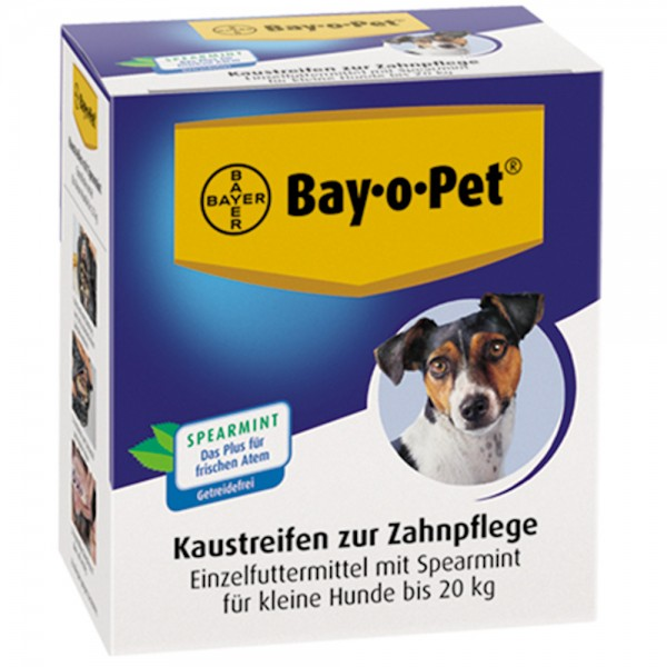 Bayer Zahnpflege Kaustreifen mit Spearmint für Hunde