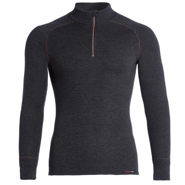 Conta Thermo Shirt, Feinripp angeraut, langarm mit Stehkragen und Zipper, Herrenshirt