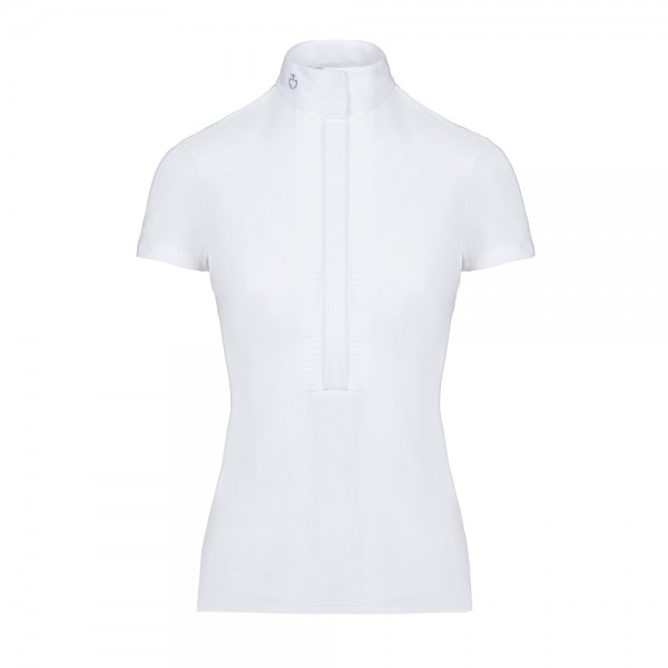Cavalleria Toscana Turniershirt Damen Pleated Jersey FS20, kurzarm