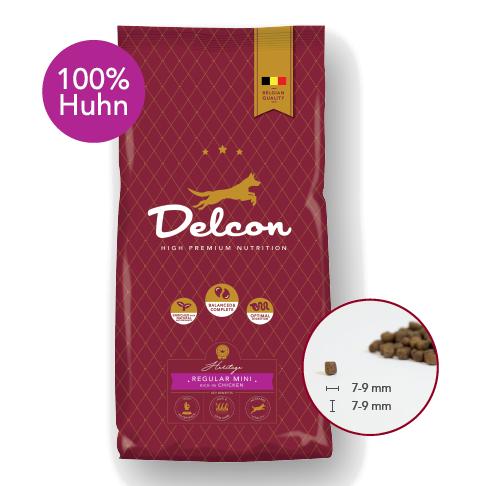 Delcon Hundefutter Heritage Regular Mini Huhn, Trockenfutter, kleine Stücke