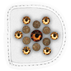 MagicTack Patches Flower Marbled Brown