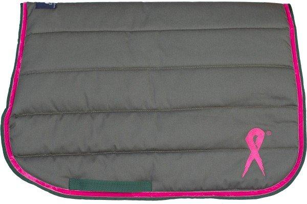 Carlitos Spring-Schabracke Sattelpad Pink Derby, weiß, olive