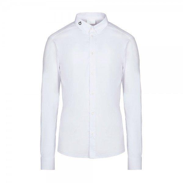 Cavalleria Toscana Herren Turniershirt Tech Knit Competition L/S Shirt, Turnierhemd