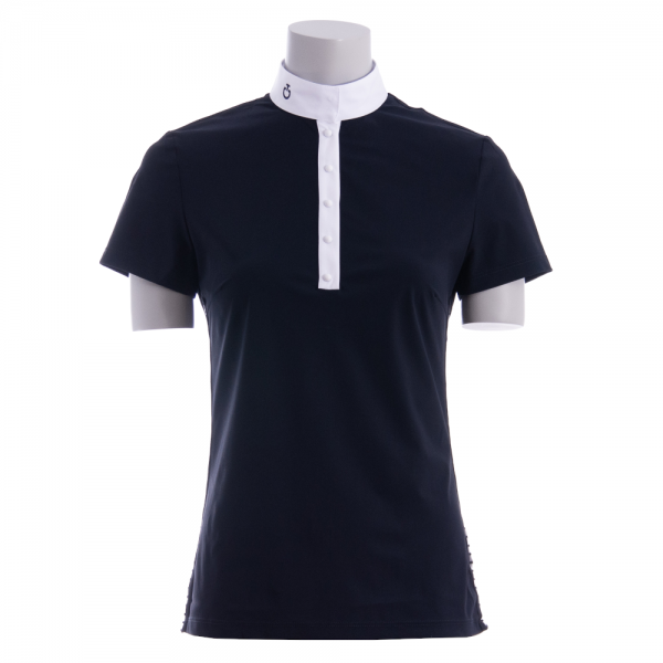 Cavalleria Toscana Damen Turniershirt Sheer Rib Knit S/S Polo, kurzarm