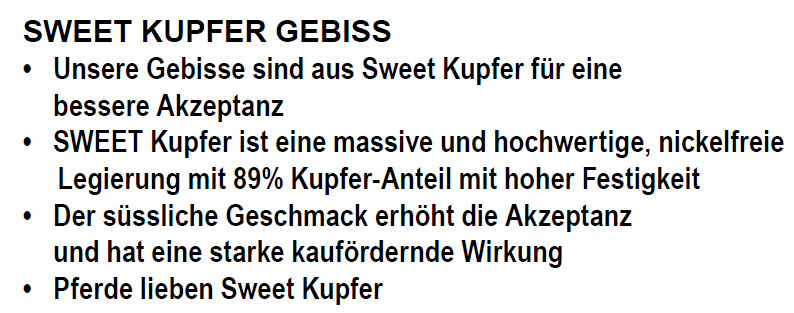 Fahrgebisse & -kandaren STUBBEN BSP BAUCHER KUPFER