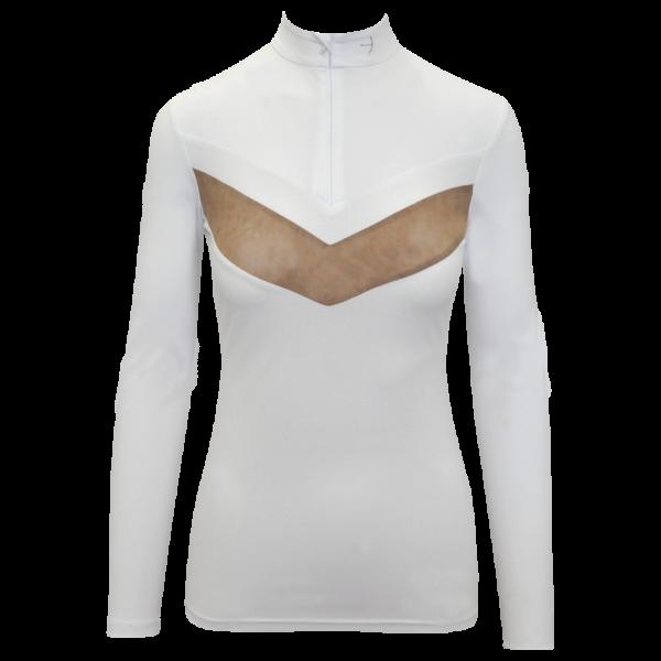 Laguso Damen Turniershirt Vivien white dots HW20, langarm