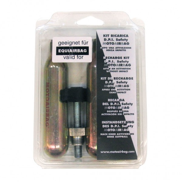USG CO2-Kartusche für EquiAirbag, 3-er Set, inkl. Werkzeug